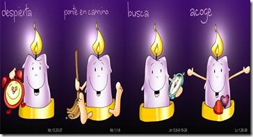 velas del adviento